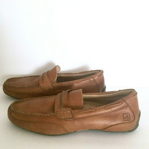 Sperry Top Sider Leather Loafer Driving Shoes 10 m